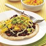 Vegetarian: Black Bean & Mango Tostadas