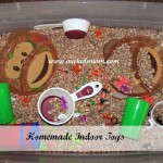 Homemade Toys: Indoor Sandbox Bean Sensory Bin