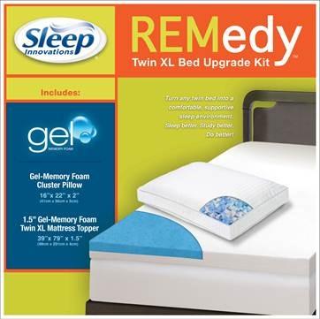 Sleep Innovations Novaform Gel Memory Foam Mattress Topper