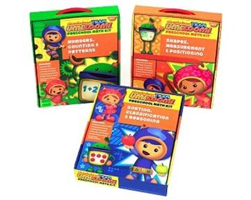Team Umizoomi math kits. Photo:  Steffany Rubin/Nickelodeon.  ©2011 Viacom, International, Inc.  All Rights Reserved