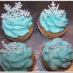 Disney Frozen Shimmering Winter Snowflake Cupcakes