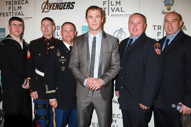 Chris Hemsworth with 1st Responders