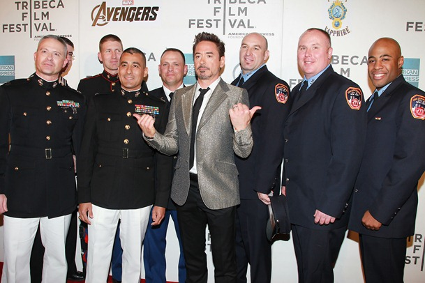 Robert Downet  Jr with 1st Responders