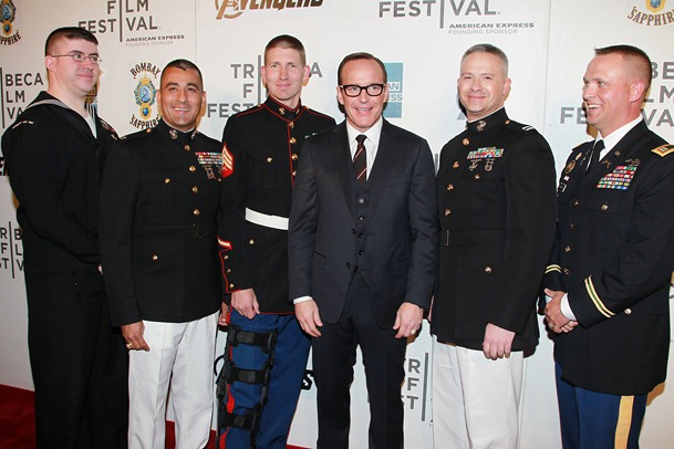 Clark Gregg  with 1st Responders