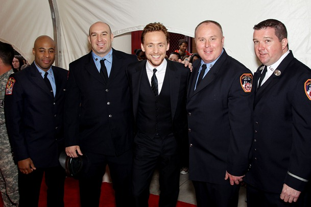 Tom Hiddleston with 1st Responders