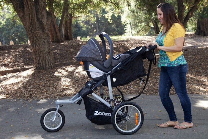 Joovy Zoom 360 Jogging Stroller Car Seat Attachment Closed