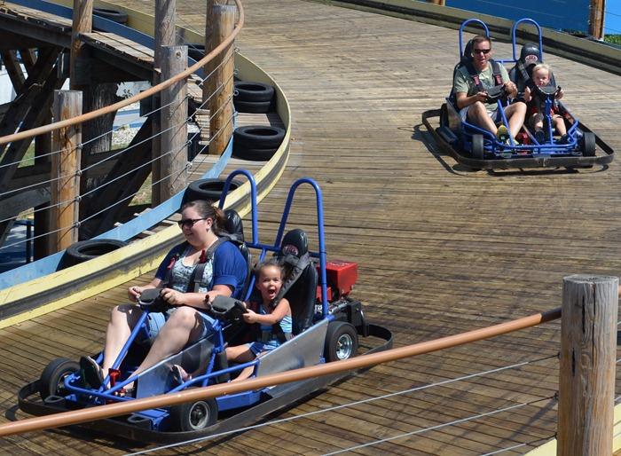 family on go-karts
