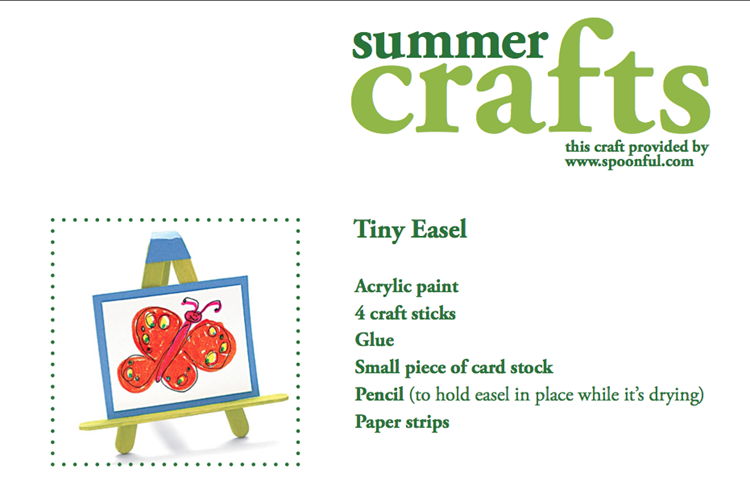 Summer Craft Tiny Easel instructions