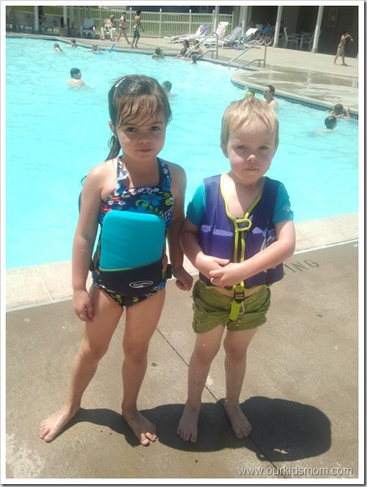 swimming assist gear on kids