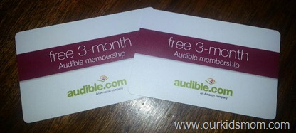 Audible.com subscription cards