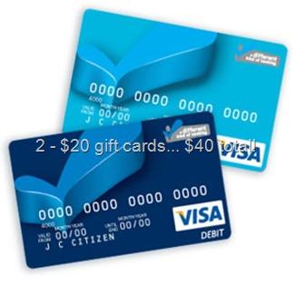 Visa $20 Gift Cards