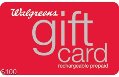 walgreens $100 gift card