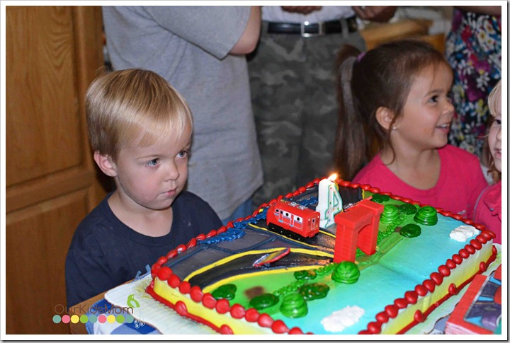 Boy With Chuggington Cake
