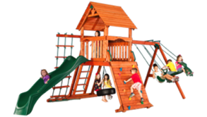 swingset and fort