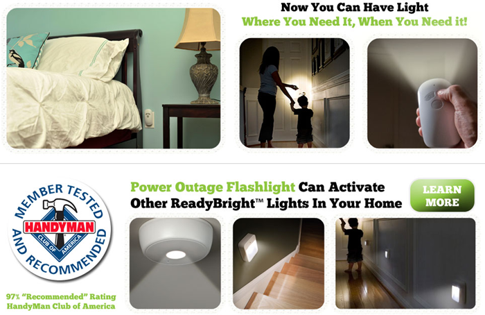 ReadyBright Emergency Power Outage Lighting System Starter House Kit