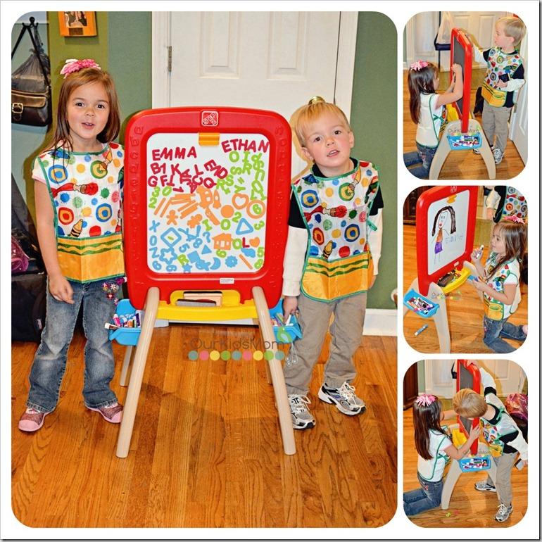 step2 easel for two with foam magnets 1