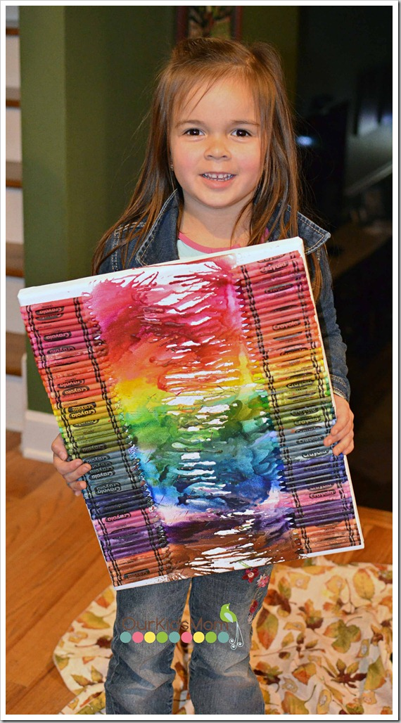 Melted Crayon Art 100th Day Of School Project Ourkidsmom