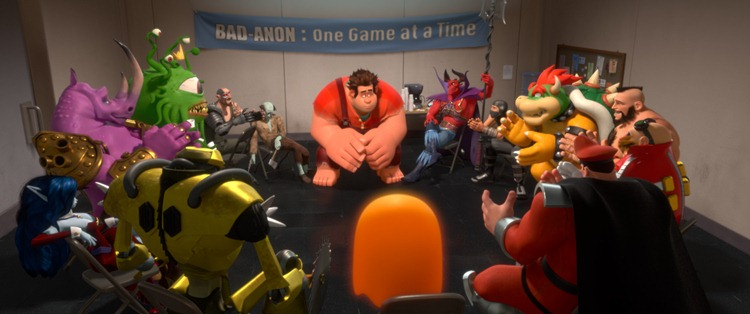 """WRECK-IT RALPH""   (Pictured) RALPH (voice of John C. Reilly) amongst other video game bad guys.  ©2012 Disney. All Rights Reserved."