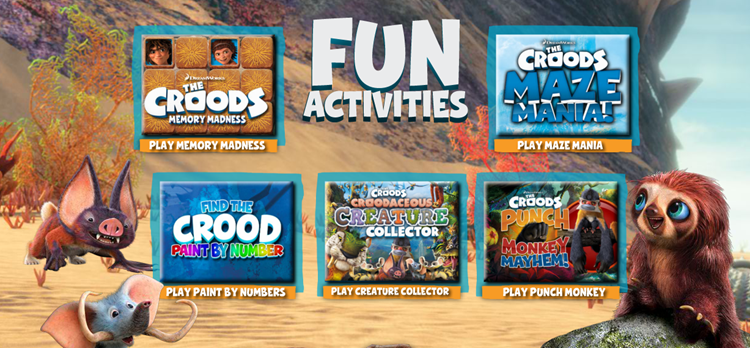 Croods Activities