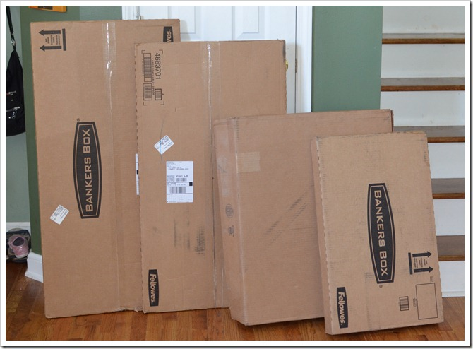 i received four boxes ofu2026 well boxes these arenu0027t just any box though they are fellowes bankers boxes