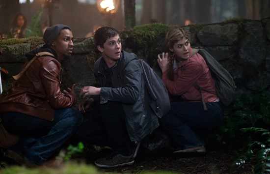 DF-04692 - Grover (Brandon T. Jackson), Percy (Logan Lerman) and Annabeth (Alexandra Daddario) prepare for another fateful adventure.