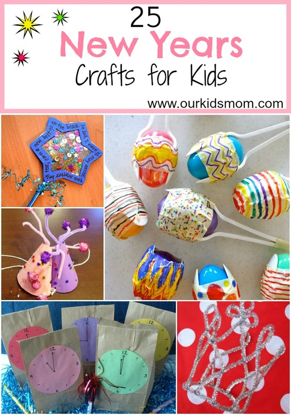 25 new years crafts for kids for New year s crafts for preschoolers