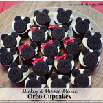 How to Make Mickey Mouse and Minnie Mouse Oreo Cupcakes