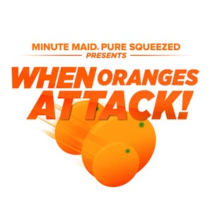 Minute Maid When Oranges Attack logo