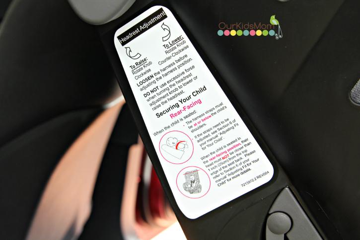 Recaro® Performance Ride Convertible Car Seat knob
