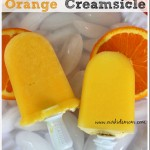 Homemade Orange Creamsicle Freezer Pop Recipe