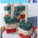Patriotic Rice Krispies Treat Pops
