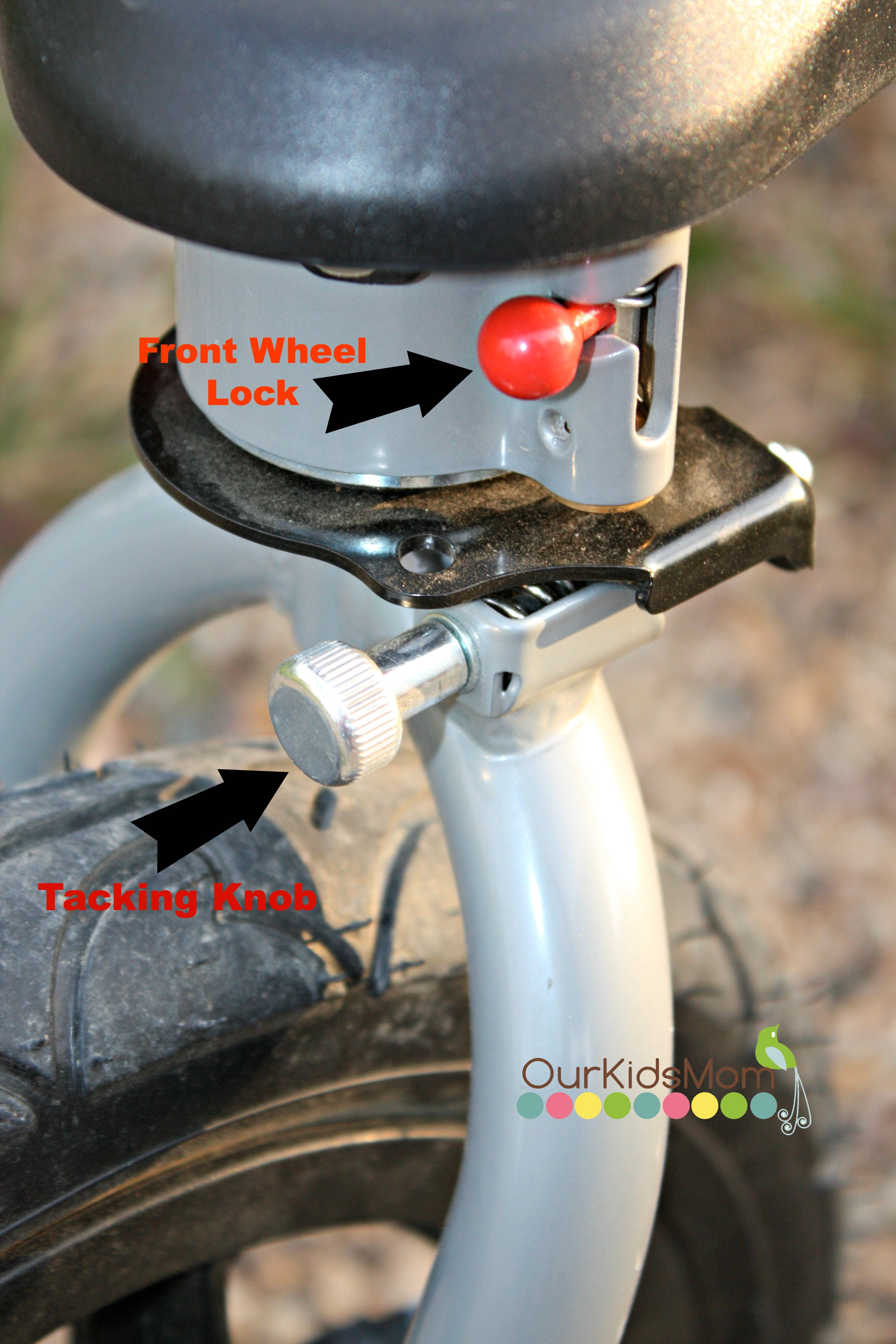 Wheel Lock and Tracking Knob