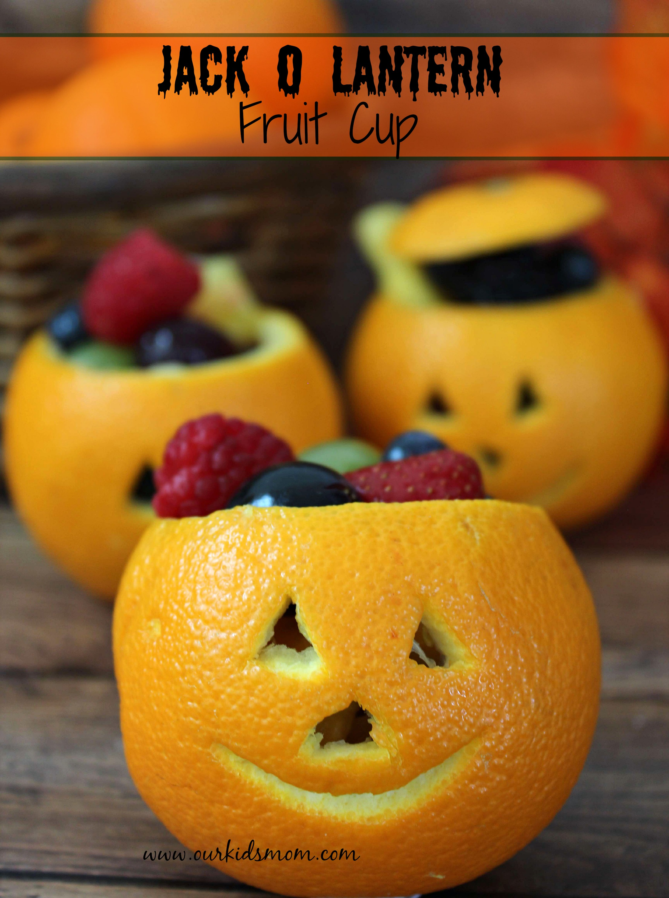 Jack o Lantern Fruit Cups