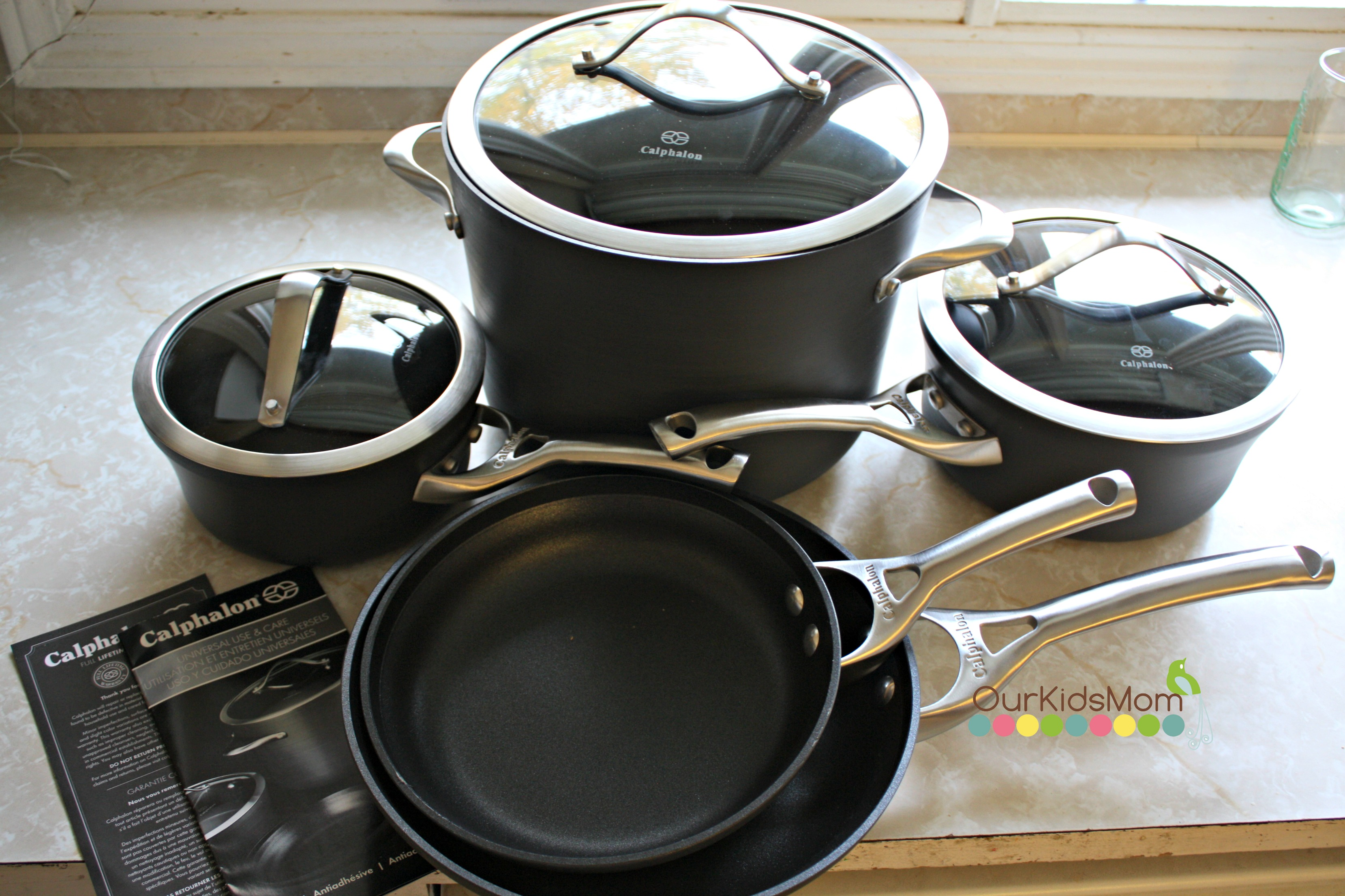 omelette calphalonusastore rack cookware and us pan en in calphalon roasting contemporary with set stainless