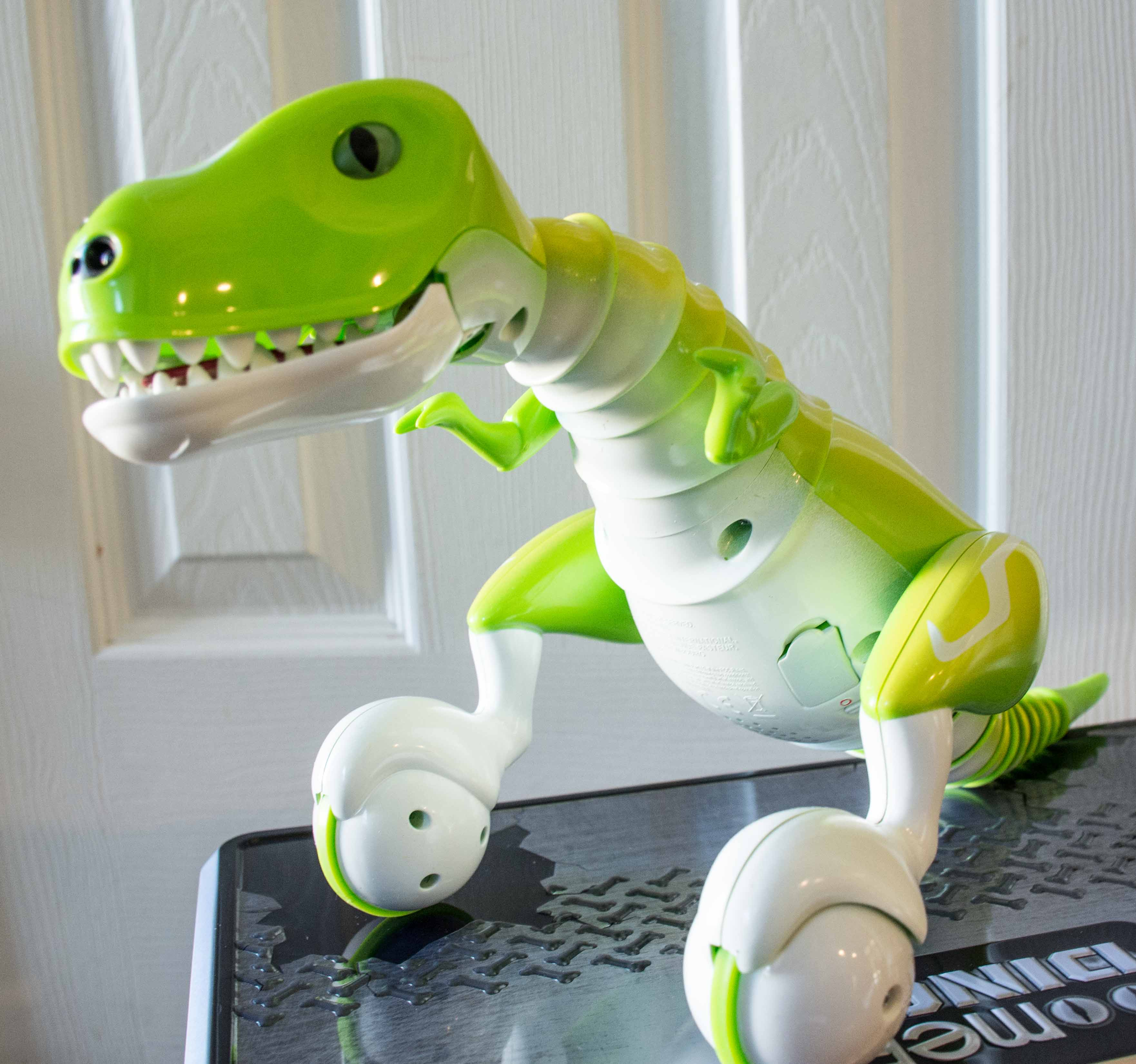 Zoomer dino boomer comes with the dino a charging cable a control
