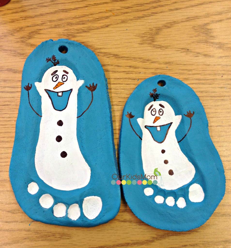 How To | Salt Dough Footprint Olaf Christmas Ornament