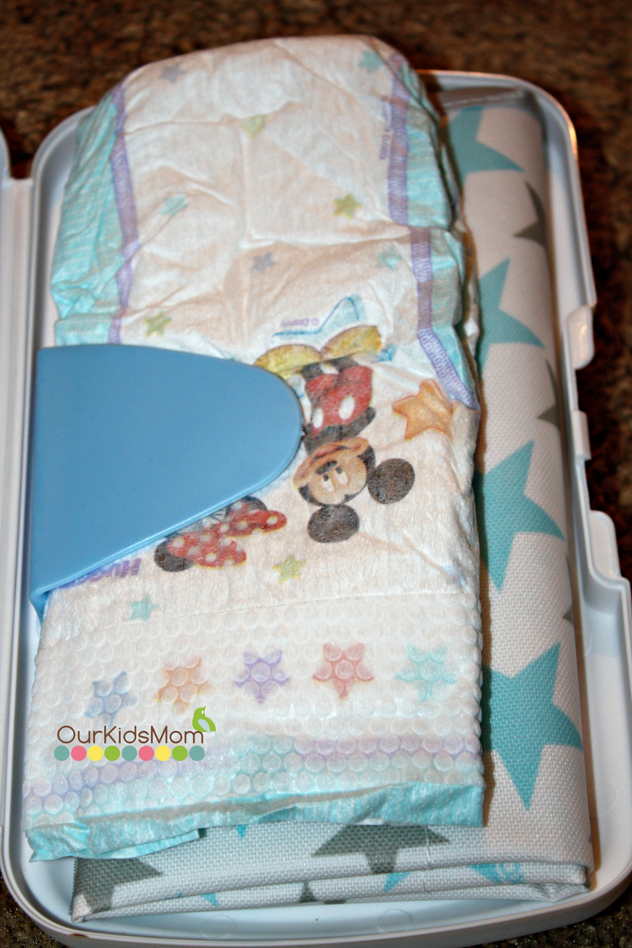 Change Mat and diaper holder