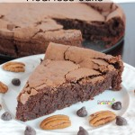 chocolate pecan flourless cake
