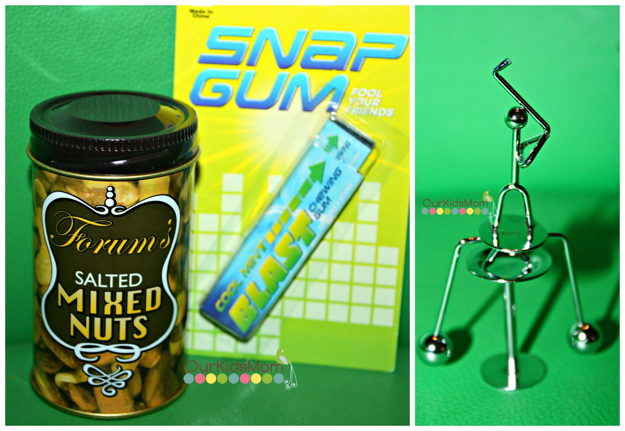 Snap Gum, Nuts in tin can joke, balancing golfer