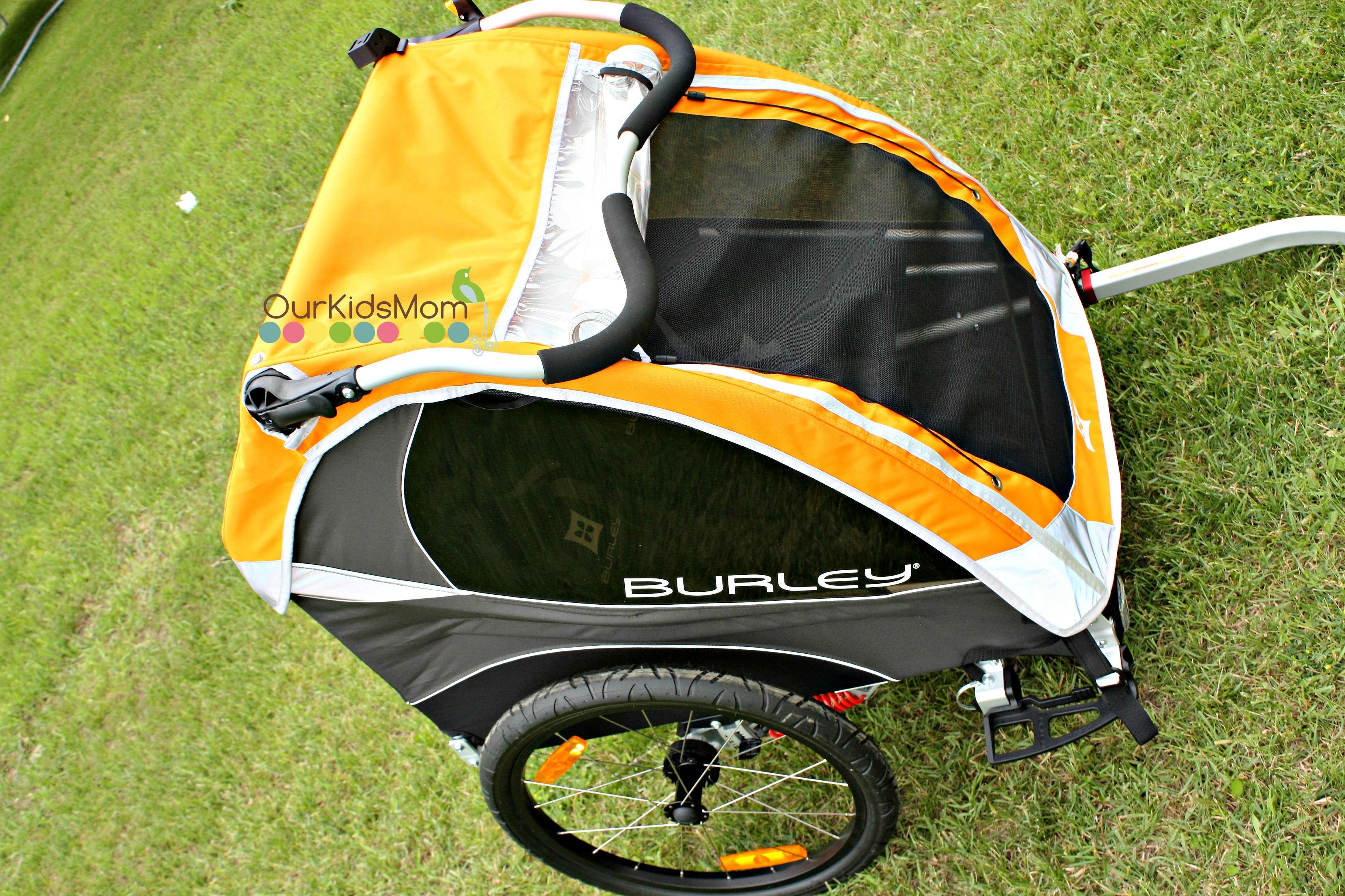 burley d 39 lite bike trailer ourkidsmom. Black Bedroom Furniture Sets. Home Design Ideas