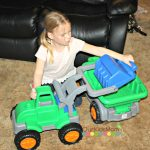 American Plastic Toys Gigantic Loader and Gigantic Dump Truck