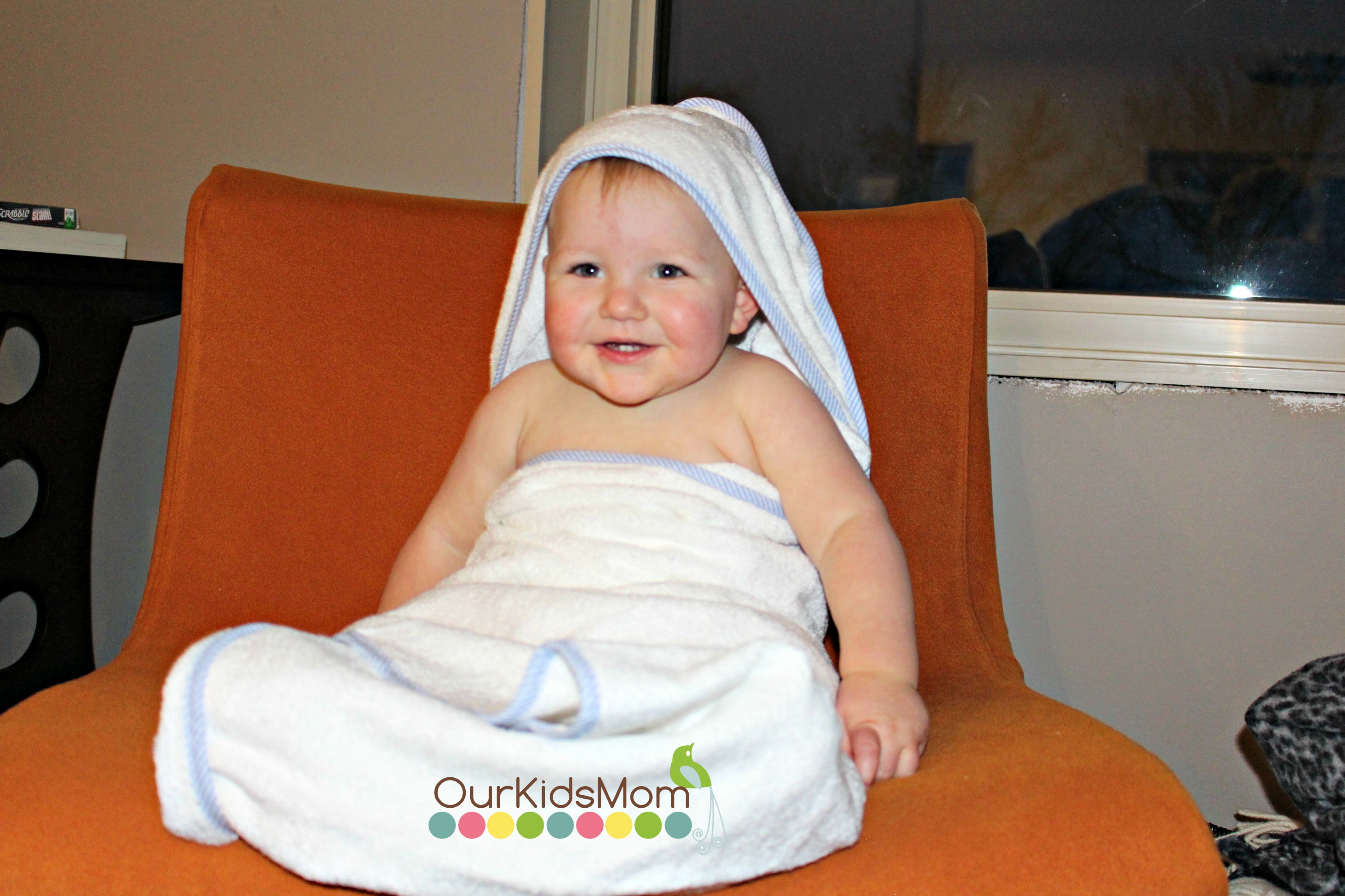 Toddler wearing towel
