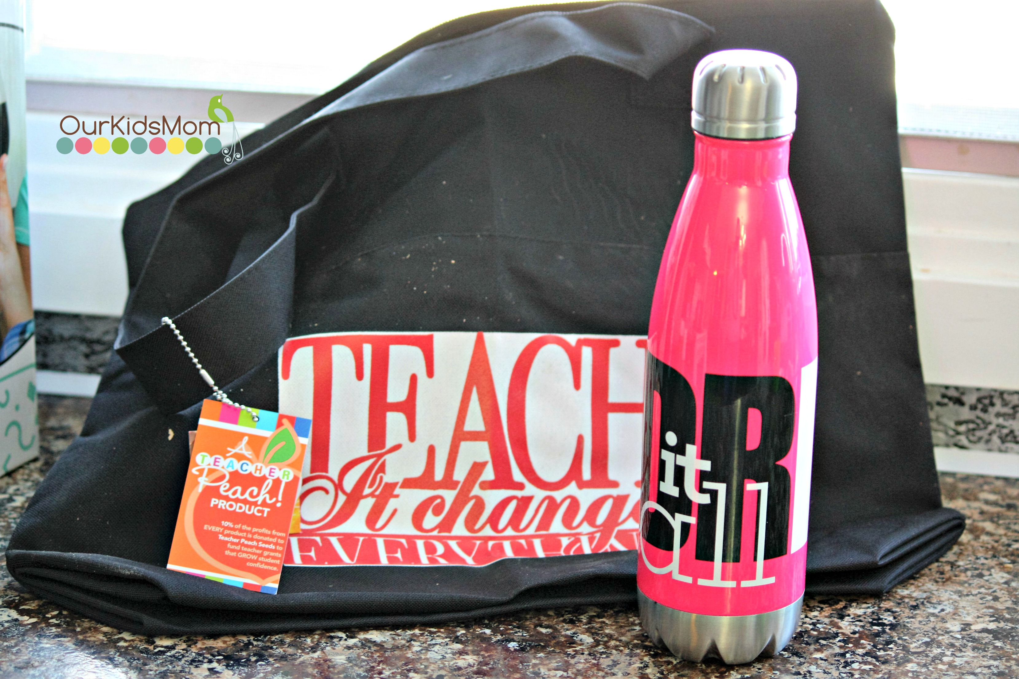 Tote Bag and water bottle