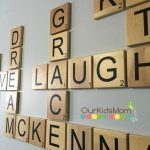 McKenna's Preteen Bedroom Makeover | Scrabble Wall Tiles & Crate Walls