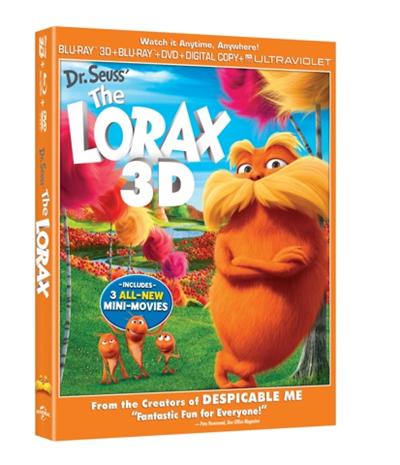 Lorax 3d dvd