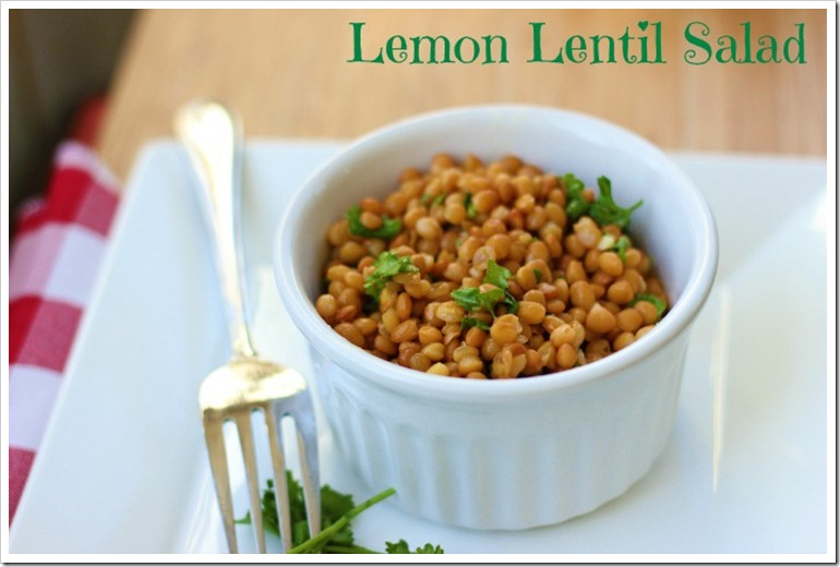 lemon lentil salad1
