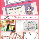 25 Valentines Day Printables | Valentines, Bag Toppers & Word Searches