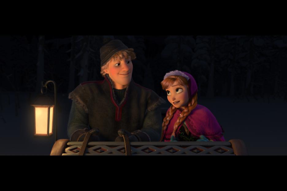 Frozen Kristoff and Anna Sleigh