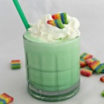Copycat Shamrock Shake Recipe with a touch of the rainbow